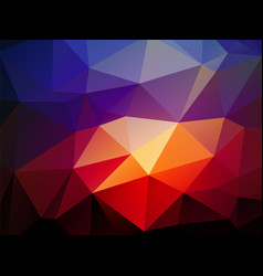 dark blue light red triangular background vector image
