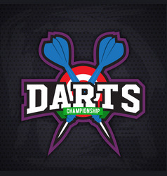 Darts porting logo and leisure design vector image