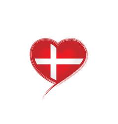Denmark flag on a white vector