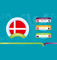 Denmark national team schedule matches vector
