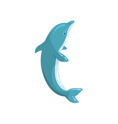 Dolphin sea animal jumping on vector