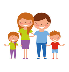 family characters cartoon vector image