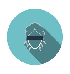 Femida head icon vector