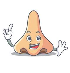Finger nose mascot cartoon style vector