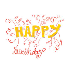 fireworks happy birthday vector image