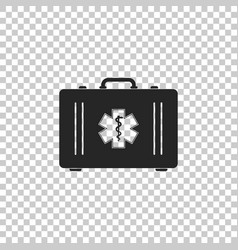 First aid box and medical symbol of the emergency vector