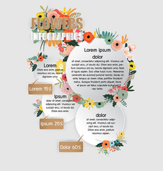 Flowers infographics vector