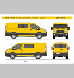 Ford transit combi delivery van swb l2h1 2014-2018 vector