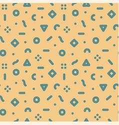 geometric seamless trendy pattern - memphis vector image