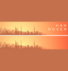 hannover beautiful skyline scenery banner vector image