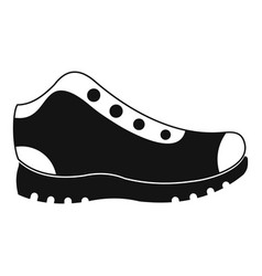 hiking boots icon simple vector image