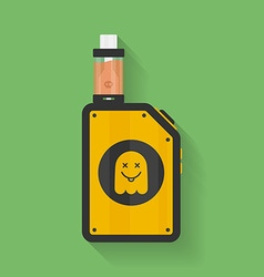 Icon of Vape device with ghost silhouette vector image