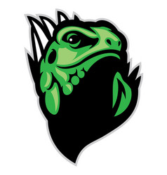 Iguana head mascot vector