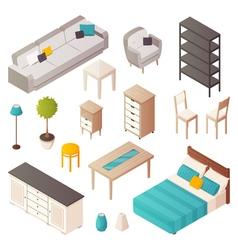 Isometric Home Furniture Set vector