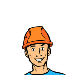joyful man professional in a helmet vector image