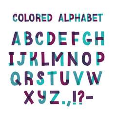 latin font or decorative english alphabet made of vector image