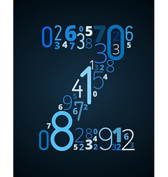 Letter Z font from numbers vector image