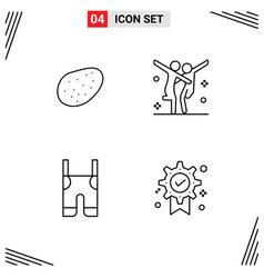 Line pack 4 universal symbols patato pants vector