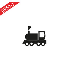 locomotive icon of transport elements vector image