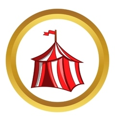 Medieval knight tent icon cartoon style vector image