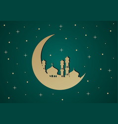 mosque islamic ramadan kareem logo vector image