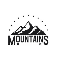 mountains icon on white background vector image