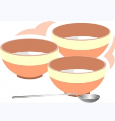 music bowl and spoon vector image