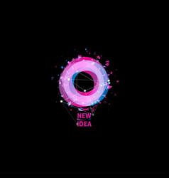 new idea logo light bulb abstract icon vector image