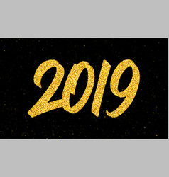 new year 2019 greeting card with calligraphy vector image
