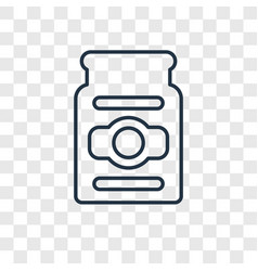 Pickles concept linear icon isolated on vector