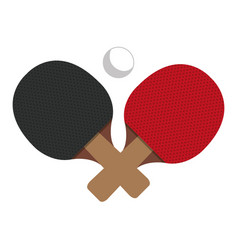 Ping pong racket icon vector