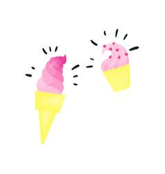 pink magic ice cream vector image