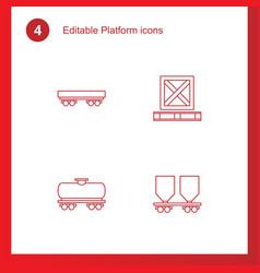 platform icons vector image