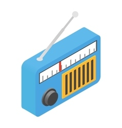 Radio isometric 3d icon vector