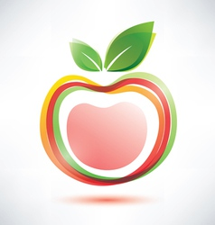 Red apple symbol icon vector