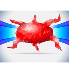 Red crystal octopus vector image vector image