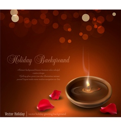 Romantic burning candles vector