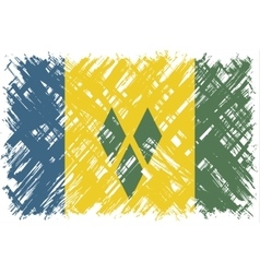 Saint Vincent and the Grenadines grunge flag vector image
