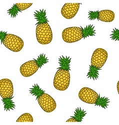 Seamless Pattern of Pineapple vector