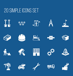 Set of 20 editable construction icons includes vector