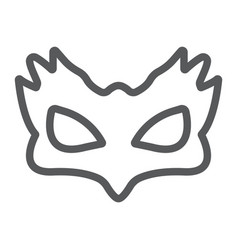 Sex mask line icon sex toy and adult bdsm mask vector
