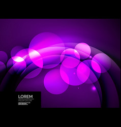 Shiny glowing glass circles modern futuristic vector