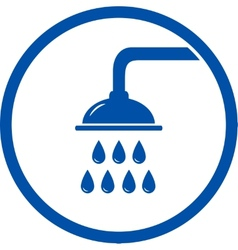 sign with shower head vector image