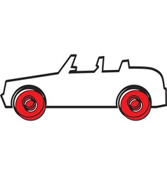 Simple car design vector image