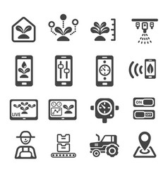 Smart farm icon vector