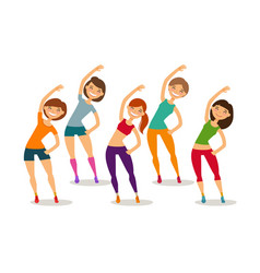 Sport aerobics healthy lifestyle concept group vector