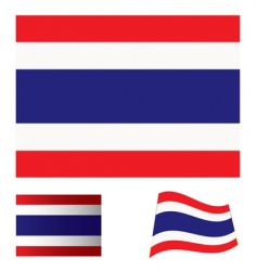 Thailand flag set vector image vector image