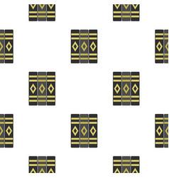 Three literary books pattern flat vector