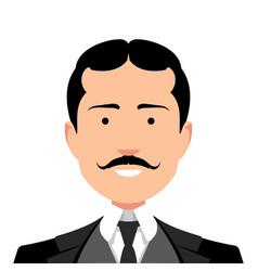 vintage gentleman portrait vector image