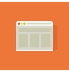 Web browser icon vector
